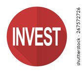 invest red flat icon   | Shutterstock . vector #267572726