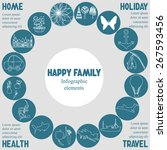 infographic elements with text... | Shutterstock .eps vector #267593456