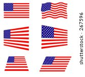 6 american flag designs   vector | Shutterstock .eps vector #267596
