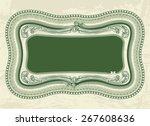 vintage floral frame for... | Shutterstock .eps vector #267608636