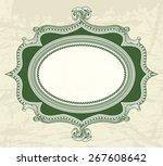 vintage floral frame for... | Shutterstock .eps vector #267608642