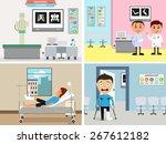 illustration of cartoon doctor... | Shutterstock .eps vector #267612182