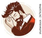 gentlemen or hipster style... | Shutterstock .eps vector #267616946