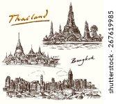 thailand  bangkok   hand drawn...   Shutterstock .eps vector #267619985