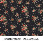 ditsy floral pattern in vector | Shutterstock .eps vector #267626066