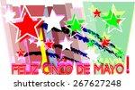feliz cinco de mayo poster... | Shutterstock .eps vector #267627248