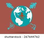 world of people.vector... | Shutterstock .eps vector #267644762