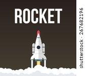 rocket vector illustration that ... | Shutterstock .eps vector #267682196