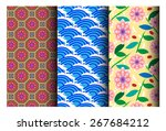 east asia pattern   Shutterstock .eps vector #267684212