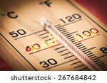 close up hot temperature... | Shutterstock . vector #267684842