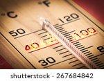 close up hot temperature... | Shutterstock . vector #267684842