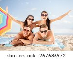 summer holidays  vacation and... | Shutterstock . vector #267686972