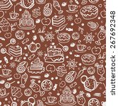 decorative seamless bakery...   Shutterstock .eps vector #267692348