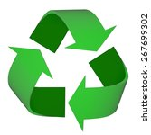 3d. recycling  recycling symbol ... | Shutterstock . vector #267699302