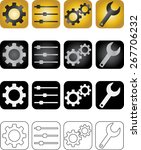 various settings icons vector...