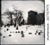 Church Graveyard In Winter...