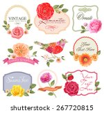 retro flowers in vector. cute... | Shutterstock .eps vector #267720815