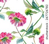 floral pattern. vector seamless ... | Shutterstock .eps vector #267726782
