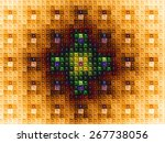 Abstract Grid Background With ...