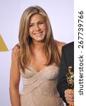 Small photo of LOS ANGELES, CA - FEBRUARY 22, 2015: Jennifer Aniston at the 87th Annual Academy Awards at the Dolby Theatre, Hollywood.