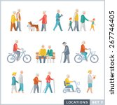 older people on the street.... | Shutterstock .eps vector #267746405