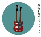 double neck guitar. flat icon | Shutterstock .eps vector #267750632