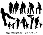 silhouettes of parents with... | Shutterstock .eps vector #2677527