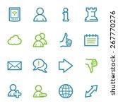 social media web icons | Shutterstock .eps vector #267770276