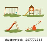 playground design over white... | Shutterstock .eps vector #267771365