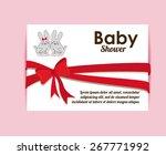 baby showe design over pink... | Shutterstock .eps vector #267771992