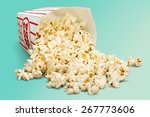 Popcorn  Spilling  Isolated.