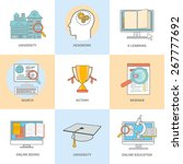 set of line icons for education ... | Shutterstock .eps vector #267777692