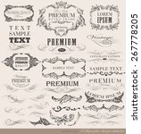 calligraphic design elements...   Shutterstock .eps vector #267778205