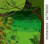 jungle design over landscape... | Shutterstock .eps vector #267783365