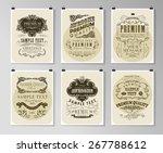 set of poster  flyer  brochure... | Shutterstock .eps vector #267788612