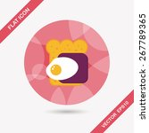 ham toast flat icon with long... | Shutterstock .eps vector #267789365