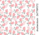 background with beautiful roses.... | Shutterstock . vector #267789572