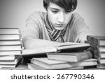 young man reading a book  the... | Shutterstock . vector #267790346