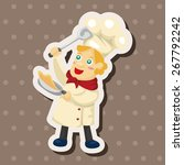 chef theme elements   Shutterstock .eps vector #267792242