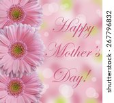 happy mother's day card with... | Shutterstock . vector #267796832