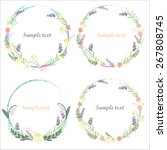 floral frame vector | Shutterstock .eps vector #267808745
