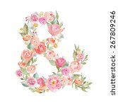 floral ampersand decorative...   Shutterstock . vector #267809246