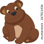 cute bear brown cartoon | Shutterstock .eps vector #267811436