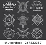 baseball badges and icons | Shutterstock .eps vector #267823352