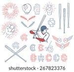 baseball bundle for any use | Shutterstock .eps vector #267823376