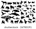 animal symbols   Shutterstock .eps vector #26783191