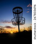 Disc Golf Basket In The Park A...