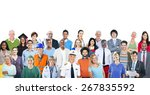 group of diverse multiethnic... | Shutterstock . vector #267835592