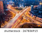 city interchange closeup at... | Shutterstock . vector #267836915