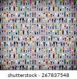 multiethnic casual people... | Shutterstock . vector #267837548